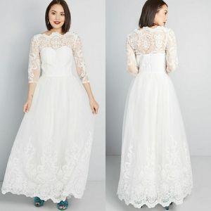 Details about  /Mystic White Sleeveless Lace Sheath Dress Plus Size 3X Modcloth Wedding